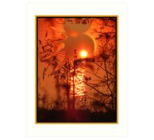 Go Sun, Go Down To The Water Art Print