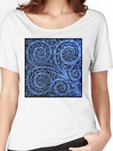 Organic Floral Pattern Women's Relaxed Fit T-Shirt