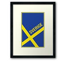 Sverige Framed Print