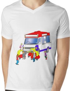 ice-cream holdup Mens V-Neck T-Shirt