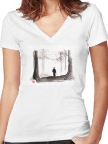 sword of doom Women's Fitted V-Neck T-Shirt