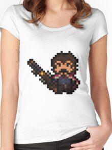 Pixel-Gunslinger Graves Women's Fitted Scoop T-Shirt