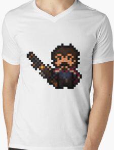 Pixel-Gunslinger Graves Mens V-Neck T-Shirt