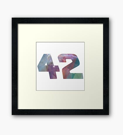 The answer to life, the universe and everything. Framed Print