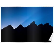 Last Rays Over the Tetons Poster