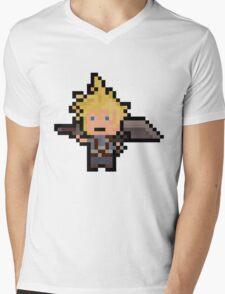 Pixel Cloud Mens V-Neck T-Shirt