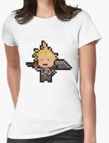 Pixel Cloud Womens Fitted T-Shirt