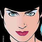 Pop Art Illustration of Beautiful Woman Erin by Frank Schuster