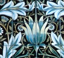 William Morris Blue Pattern Sticker