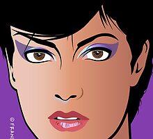 Pop Art Illustration of Beautiful Woman Sonja by Frank Schuster