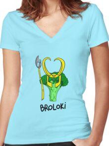 Broloki Women's Fitted V-Neck T-Shirt