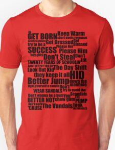 Subterranean Homesick Blues (Black text) T-Shirt