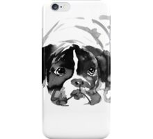 sad dog iPhone Case/Skin