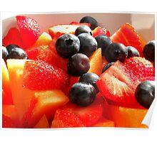 Melon Strawberry Blueberry Poster