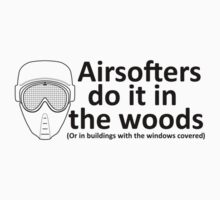 Airsofters do it in the woods! One Piece - Short Sleeve