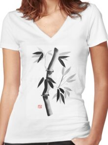 bamboos Women's Fitted V-Neck T-Shirt