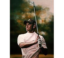 Tiger Woods painting Photographic Print