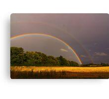 Double Rainbow 16 September 2012 Manfield, North England Canvas Print