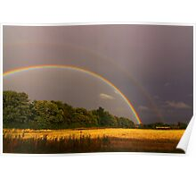 Double Rainbow 16 September 2012 Manfield, North England Poster