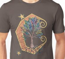 Feather Tree on the Moon Unisex T-Shirt