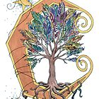 Feather Tree on the Moon by codyvandezande