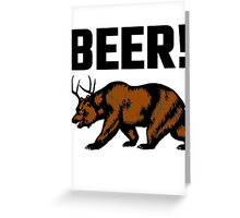 Beer! Greeting Card