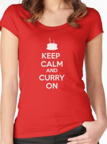 KEEP CALM AND CURRY ON Women's Fitted Scoop T-Shirt