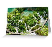 Plitvice Lakes National Reserve, Croatia. Greeting Card