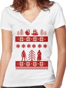 CaptainSwan Christmas! Women's Fitted V-Neck T-Shirt