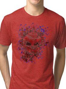 skull splat Tri-blend T-Shirt