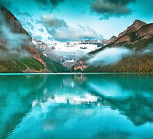 Lake Louise Reflection  by Mark Bilham