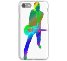 Famous quotes series: colourful guitar player. Music is my passion iPhone Case/Skin