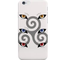 wolf triskele iPhone Case/Skin