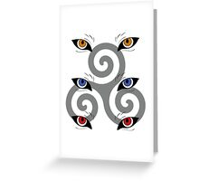 wolf triskele Greeting Card