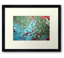 Paint Flakes Framed Print