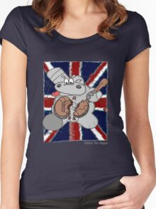 Hippo Union Jack Thrash Women's Fitted Scoop T-Shirt