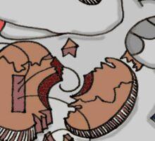Hippo Union Jack Thrash Sticker
