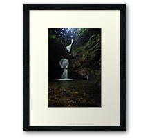 Nectarns Glen Waterfall Framed Print