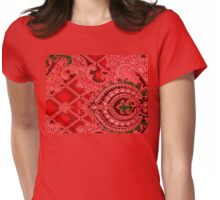 Pretty Red pattern design Womens Fitted T-Shirt