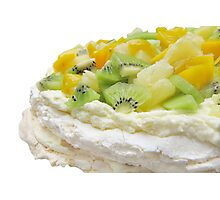 Fruit Pavlova Dessert Photographic Print