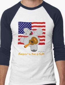 Hippo Rockin in the USA Men's Baseball ¾ T-Shirt