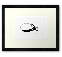 siamese sleeping Framed Print