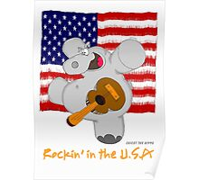 Hippo Rockin in the USA Poster