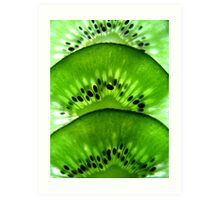 Macro Kiwi Fruit Art Print
