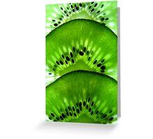 Macro Kiwi Fruit Greeting Card