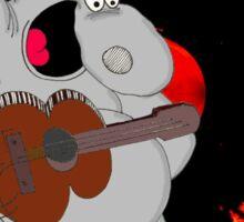Hippo Exploding Record Sticker
