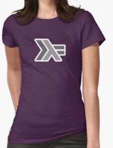 haskell (round outline) Womens Fitted T-Shirt