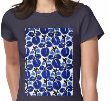 Bluebell forest pattern Womens Fitted T-Shirt