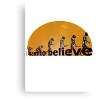 i want to believe (evolution) Canvas Print