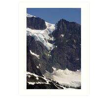 glacial flow on mt shuksan, washington, usa Art Print